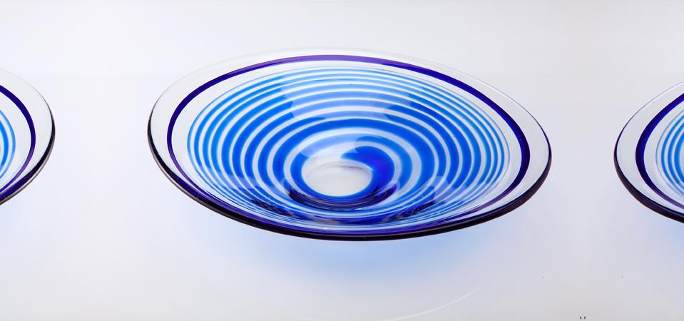 渦巻き楕円大皿