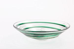 うねり紋鉢(グリーン)